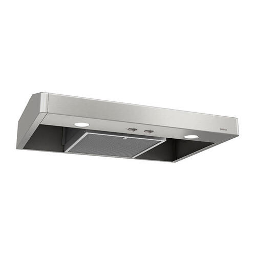 Tenaya 30-inch 250 CFM Stainless Steel Under-Cabinet Range Hood with light