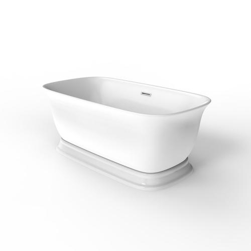 """Product Image - Bethany 59"""" Acrylic Freestanding Tub with Integral Drain - Polished Chrome Drain and Overflow"""