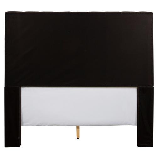 Gallery - Bergen Queen Headboard Only, Onyx Linen