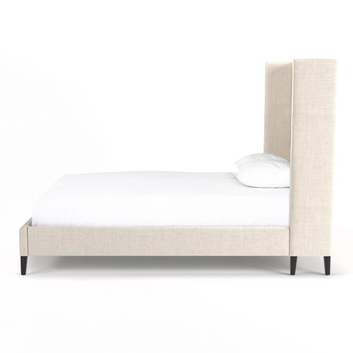 Four Hands - Queen Size Cambric Ivory Cover Madison Bed
