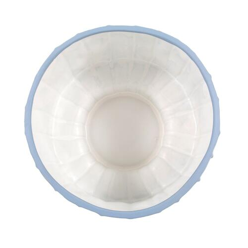 Howard Elliott - French Blue Ribbed Ceramic Bowl