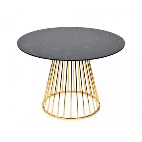 VIG Furniture - Modrest Holly Modern Black & Gold Round Dining Table