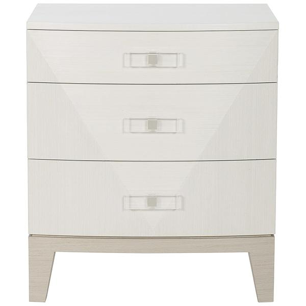 Axiom Nightstand in Linear Gray (381), Linear White (381)