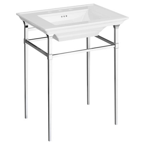 Town Square S Metal Console Table  American Standard - Polished Chrome