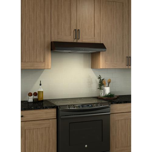Broan® 36-Inch Convertible Under-Cabinet Range Hood, 250 CFM, Black