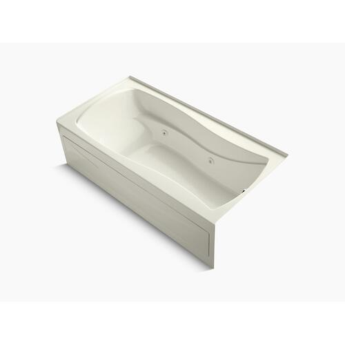 """Biscuit 72"""" X 36"""" Alcove Whirlpool With Integral Apron, Integral Flange and Right-hand Drain"""