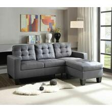 ACME Earsom Sectional Sofa - 52775 - Gray Linen
