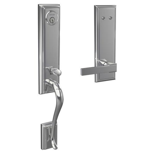 Custom Addison 3/4 Trim Inactive Handleset with Northbrook Lever - Bright Chrome