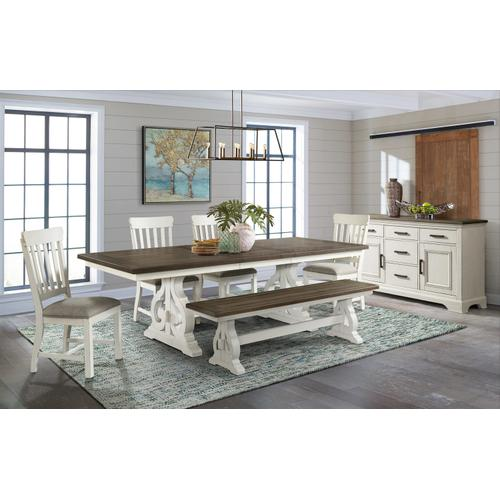 Drake Dining Table & 6 Side Chairs