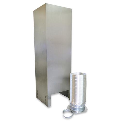 Island Hood Chimney Extension Kit (10-12ft) for vented hoods Stainless Steel