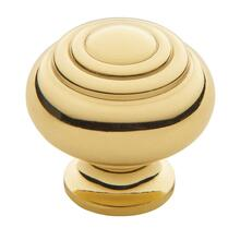Polished Brass Ring Deco Knob
