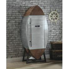 ACME Brancaster Wine Cooler Cabinet - 97195 - Retro Brown TGL & Aluminum