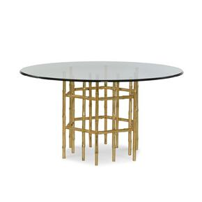 "Jasper Dining Table With 60"" Tempered Glass Top"