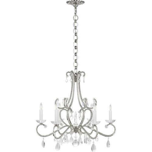 AERIN Montmartre 6 Light 30 inch Polished Nickel Chandelier Ceiling Light, Medium