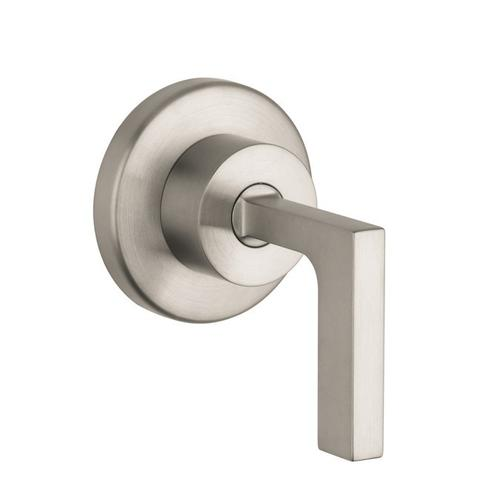 Brushed Nickel Volume Control Trim with Lever Handle