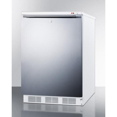 Built-in Undercounter Medical All-freezer Capable of -25 C Operation, With Front Lock, Wrapped Stainless Steel Door and Horizontal Handle