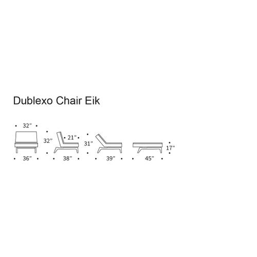 DUBLEXO CHAIR/SP EIK CHAIR METAL BARS/EIK LEGS, LACQUERED OAK