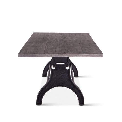 """Steel City 96"""" Dining Table Weathered Gray"""