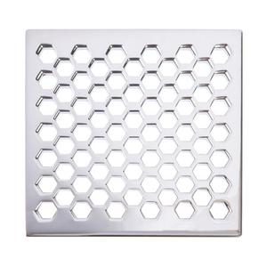 "English Bronze 6"" Square Shower Drain"