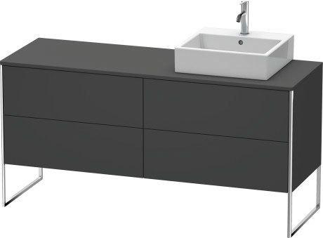 Vanity Unit For Console Floorstanding, Graphite Matte (decor)