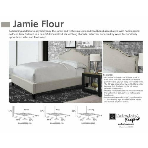 JAMIE - FLOUR King Bed 6/6 (Natural)