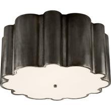 View Product - Alexa Hampton Markos 4 Light 26 inch Gun Metal Flush Mount Ceiling Light