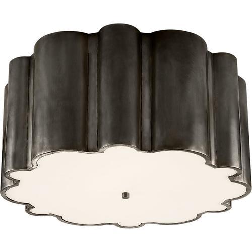 Visual Comfort - Alexa Hampton Markos 4 Light 26 inch Gun Metal Flush Mount Ceiling Light