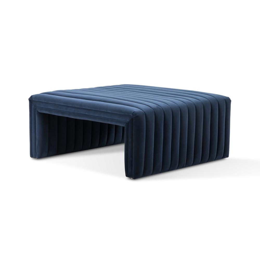 """See Details - Sapphire Navy Cover Augustine Ottoman-36"""""""