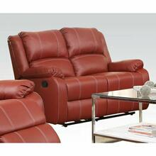 ACME Zuriel Loveseat (Motion) - 52151 - Red PU