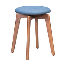 Billy Stool Walnut & Blue