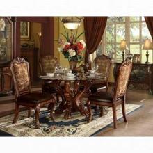 ACME Dresden Dining Table w/Pedestal - 60010 - Cherry Oak