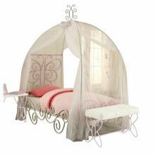 ACME Priya II Full Bed w/Canopy - 30535F - White & Light Purple