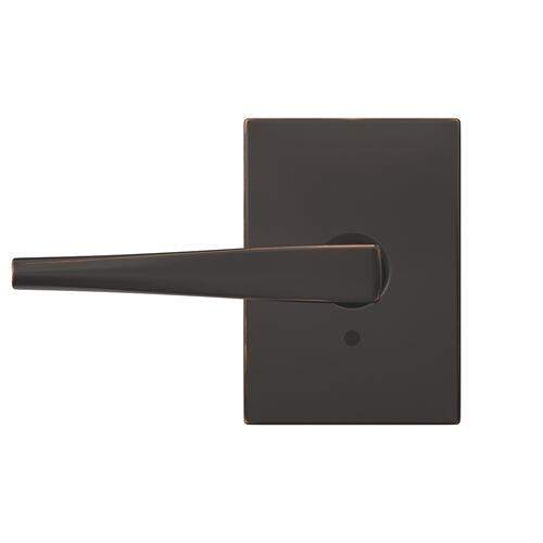 Custom Eller Lever with Century Trim Hall-Closet and Bed-Bath Lock - Aged Bronze