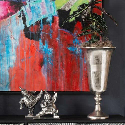 Howard Elliott - Silver Aluminum Footed Oversized Vase, Small