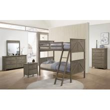 3016 Ashland Twin/Full Bunk Grey