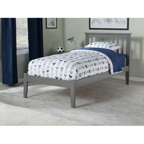 Atlantic Furniture - Mission Twin XL Open Foot Atlantic Grey