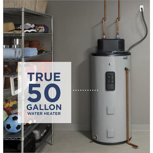GE® Smart 50 Gallon Electric Water Heater with Flexible Capacity