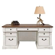 "See Details - 60"" Double Pedestal Executive Desk"