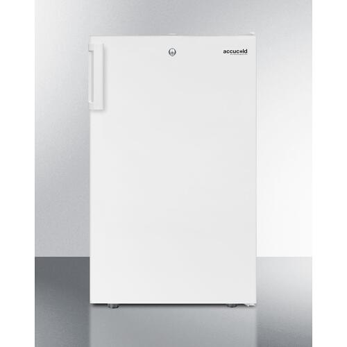 """20"""" Wide Counter Height All-freezer for General Purpose Use, -20 C Capable With A Lock and White Exterior"""