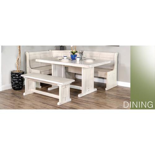 Bayside Short Bench & Corner Seat, Wood Seat