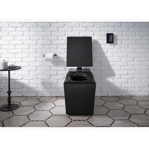 White Intelligent Elongated Dual-flush Chair Height Toilet With Premium Remote