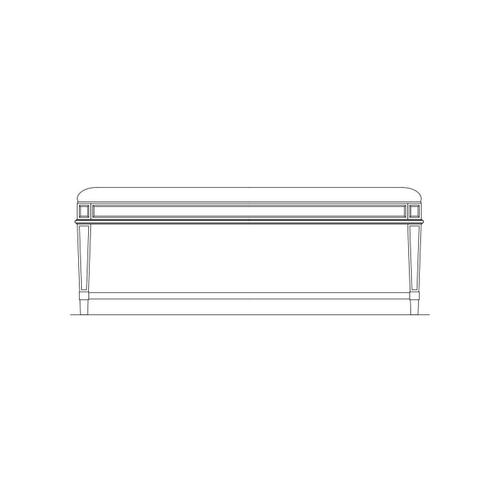 Portico Bed End Bench - Shell