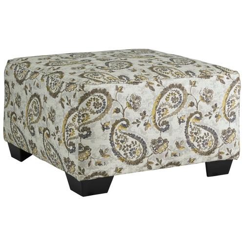 Renchen Oversized Accent Ottoman Pewter