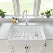 See Details - Avery 36 x 20 Single Bowl Farmhouse Kitchen Sink  American Standard - Alabaster White