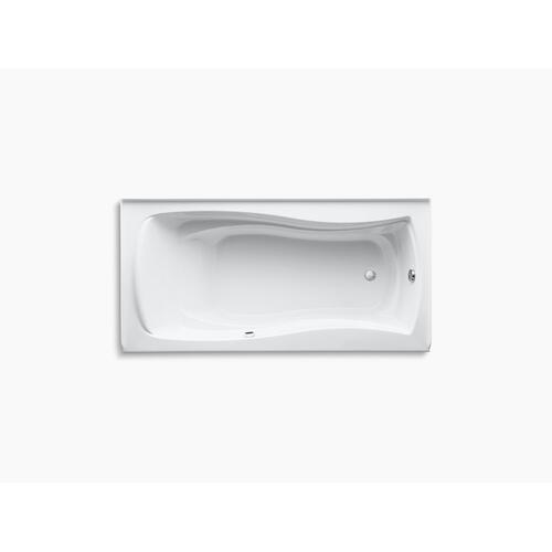 "Biscuit 72"" X 36"" Alcove Bath With Bask Heated Surface, Integral Apron, Integral Flange, and Right-hand Drain"