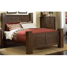 5/0 Queen Post Bed - Mesquite Pine Finish