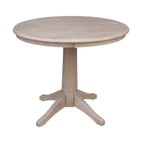 """John Thomas Furniture - 36"""" Pedestal Table in Taupe Gray"""