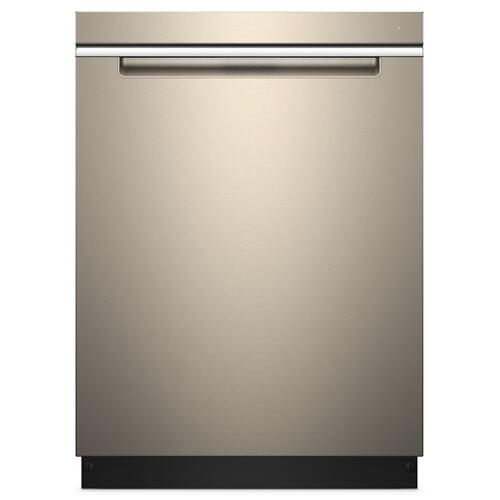 Whirlpool - Stainless Steel Tub Pocket Handle Dishwasher with TotalCoverage Spray Arm Fingerprint Resistant Sunset Bronze