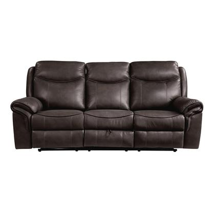 See Details - Double Reclining Sofa with Center Drop-Down Cup Holders, Receptacles, Hidden Drawer and USB Ports