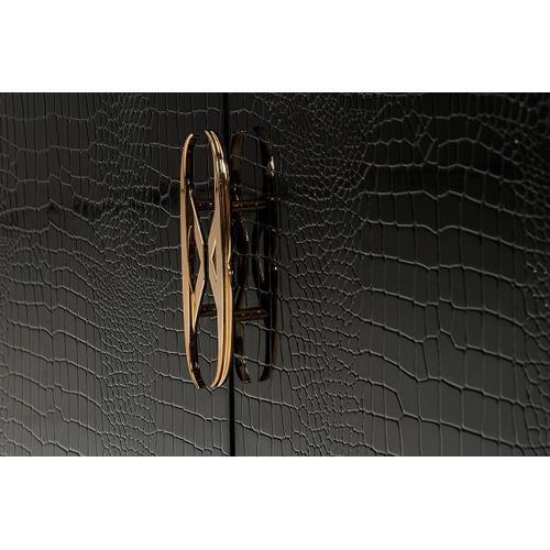 Gallery - A&X Talin Modern Black Crocodile & Rosegold Buffet